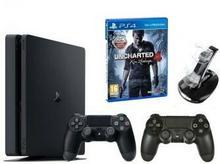 Sony PlayStation 4 Slim 1TB Czarny + Uncharted 4 Kres Złodzieja + 2xDualShock