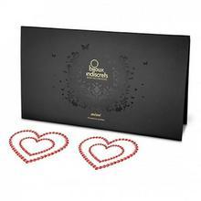 Bijoux Indiscrets Nakładki na sutki - Bijoux Indiscrets Mimi Heart Red Serce Czerwone BU043A