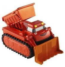 Fisher Price Bob Budowniczy Pojazd Spychacz Pociągnij i jedź DGY49