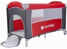 Sun Baby Łóżeczko jednopoziomowe Sweet Dreams czerwone SD707/GC