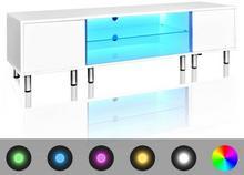 vidaXL vidaXL Stojak na telewizor, biały, LED, 160 cm