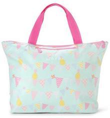 Penny Scallan Duża torba na zakupy miętowo - różowa w ananasy Penny Scallan TOTPB