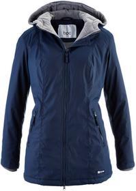 Bonprix Długa kurtka przejściowa, ocieplana ciemnoniebieski