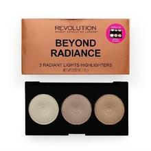 Revolution Makeup Makeup Revolution, Beyond Radiance, paleta rozświetlaczy do twarzy