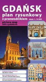 Gdańsk. Plan rysunkowy z przewodnikiem 1:16 000