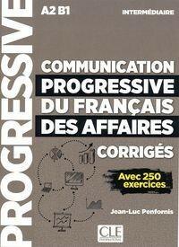 Communication progressive du francais des affaires nieveau intermediaire A2-B1 klucz Penfornis Jean-Luc