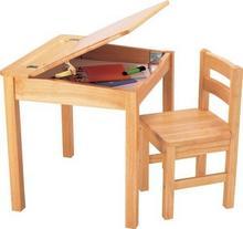 Pintoy pintoy i krzesło do biurka, naturalne drewno 60.02929
