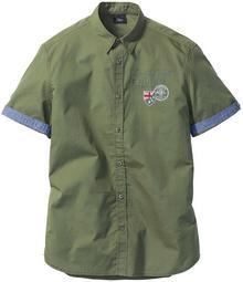 Bonprix Koszula z krótkim rękawem Regular Fit oliwkowy