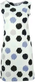 Sukienka w grochy (biało czarna) : Rozmiar - XXL