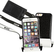 MOC MOC Zestaw Universal Velcroplate + Waterproof Bag Black & White XL wodoodporne etui na smartfona do 5,5