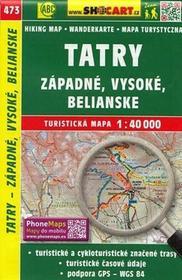 SHOCart Tatry - západné, Vysoké, Belianské, 1:40 000