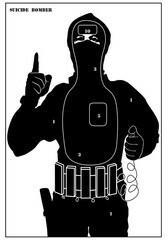 TM / POLSKA Tarcze sylwetkowe Terrorysta pakiet 10 szt + DARMOWY ZWROT (TS-11) TS-11