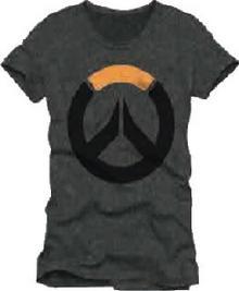 Jinx Koszulka Overwatch Logo szara