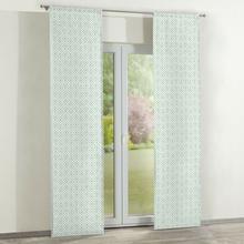 Dekoria Zasłony panelowe 2 szt. szaro miętowe rąby na białym tle 60 x 260 cm Geometric 350-141-45