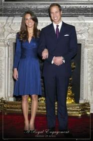 1art1 1art152075domu WindsorKsiążę A Royal zaangażowania William i Kate Middleton Poster 91x 61cm 52075