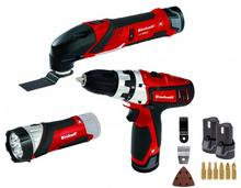 EINHELL Zestaw narzędzi akumulatorowych wkrętarka + multitool + latarka 2x1,3Ah TE-TK 12 Li