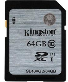 Kingston SDXC Class 10 UHS-I 64GB