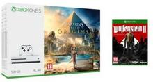 Microsoft Xbox One S 500GB Biały + Assassin's Creed Origins + Wolfenstein II The New Colossus + 6M Live Gold