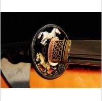 Kuźnia mieczy samurajskich MIECZ SAMURAJSKI WAKIZASHI DO TRENINGU, STAL WYSOKOWĘGLOWA 1095, HARTOWANA GLINKĄ, R321