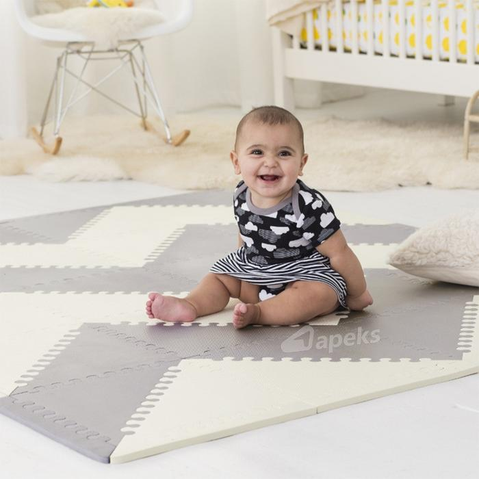 Skip Hop Mata do zabawy Playspot Grey/Cream GEO