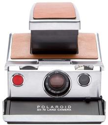 Polaroid SX-70 silver-brown