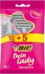 BIC Jednorazowe maszynki do golenia Twin Lady Sensitive 15-opak.