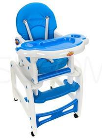 BABYMAXI Krzesełko do karmienia i stolik, 5w1, Niebieskie