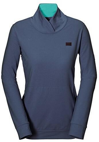 dab37de218f2bc Jack Wolfskin damski sweter z oddychające ze biobawełna, Blue Indigo, XXL  1804481-1096 - Ceny i opinie na Skapiec.pl