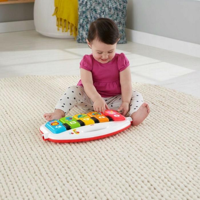 Fisher Price Mattel Mata z pianinkiem muzyczne zwierzątka FWT13