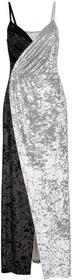 Bonprix Sukienka aksamitna czarno-szary