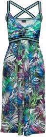 Bonprix Sukienka shirtowa ze skrzyżowanymi ramiączkami koralowy