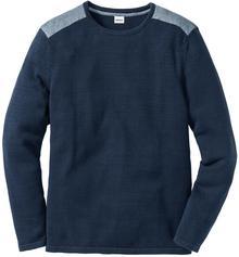 Bonprix Sweter Regular Fit ciemnoniebieski