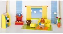 Goki SALON drewniane mebelki do domku dla lalek GK 51904