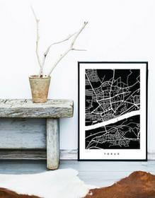 TORUŃ - B1 - fragment mapy miasta KOLORY
