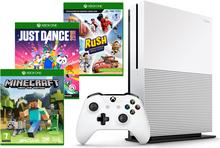 Microsoft Xbox One S 500GB Biały +  Kinect + Minecraft + Just Dance 2018 + Rush Disney Pixar + 9M Live Gold
