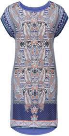 Bonprix Sukienka z nadrukiem lila-niebieski z nadrukiem
