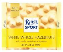 Ritter Sport Czekolada biała z całymi orzechami laskowymi 100 g