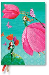 Paperblanks Kalendarz 18M 2019 Joyous Springtime Midi Horizontal