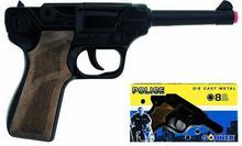 Metalowy pistolet policyjny 8 naboi
