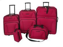 vidaXL Zestaw walizek 5 części, czerwone