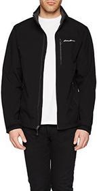 Eddie Bauer EDDIE Bauer kurtka męska Wind Foil Elite kurtka softshell, kolor: czarny (czarny) , rozmiar: l B0787K921V