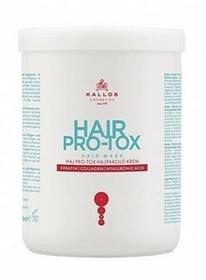 Kallos Hair Pro-Tox Hair Mask maska do włosów z keratyną kolagenem i kwasem hialuronowym 1000ml 48146-uniw