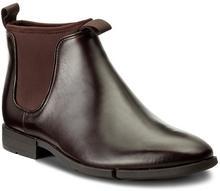 Clarks Sztyblety Daulton Up 261268807 Dark Brown Leather