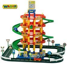 Wader Quality Toys QT 5-poziomowy Wielki Tor Garaż Parking + 3 Auta 38104