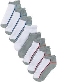 Bonprix Krótkie skarpetki damskie (8 par) biało-szaro-kolorowy