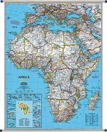 National Geographic Afryka Classic polityczna mapa ścienna, 1:9 328 000