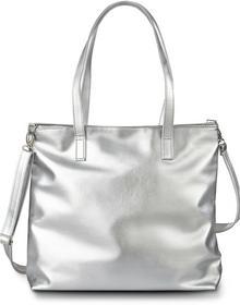 Bonprix Torba shopper metaliczna, z kolekcji Maite Kelly srebrny kolor