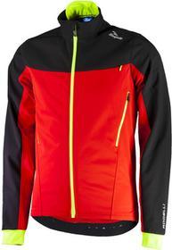 Rogelli TRABIA zimowa kurtka rowerowa Softshell czarny-czerwony-fluor 003.116