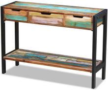vidaXL vidaXL Kredens, konsola z drewna odzyskanego 3 szufladami