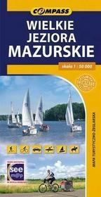 Wielskie Jeziora Mazurskie mapa turystyczno-żeglarska 1:50 000 Compass